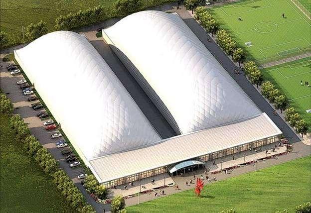 优先供应隔热、隔音的大型气膜帐篷35x70m 2