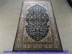 Pleasing art rug, silk tapestry
