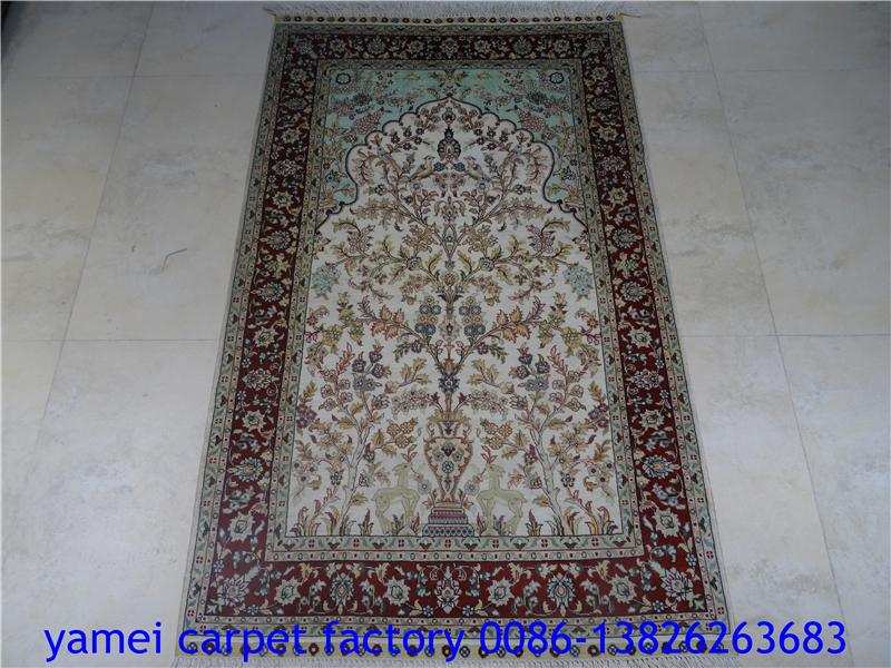 赏心悦目的艺术小地毯,蚕丝挂毯 2