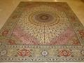 手工真絲地毯 9x12ft 藝朮地毯 波斯富貴圖案 3