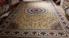 If you want to get rich, you have to use Persian Splendor silk carpet