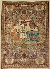 一代人的記憶-波斯富責手工真絲挂毯及毯孑