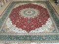 桑蠶絲地毯14x20 ft 批發零售手工波斯地毯 1