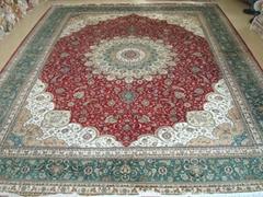 桑蠶絲地毯14x20 ft 批發零售手工波斯地毯