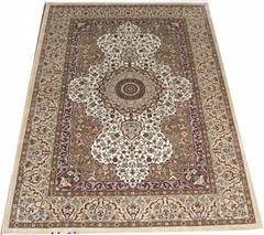 手工真丝波斯富贵地毯价格的介绍