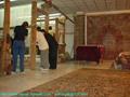 适合美国接待大厅的兰色手工波斯真丝地毯及挂毯 3