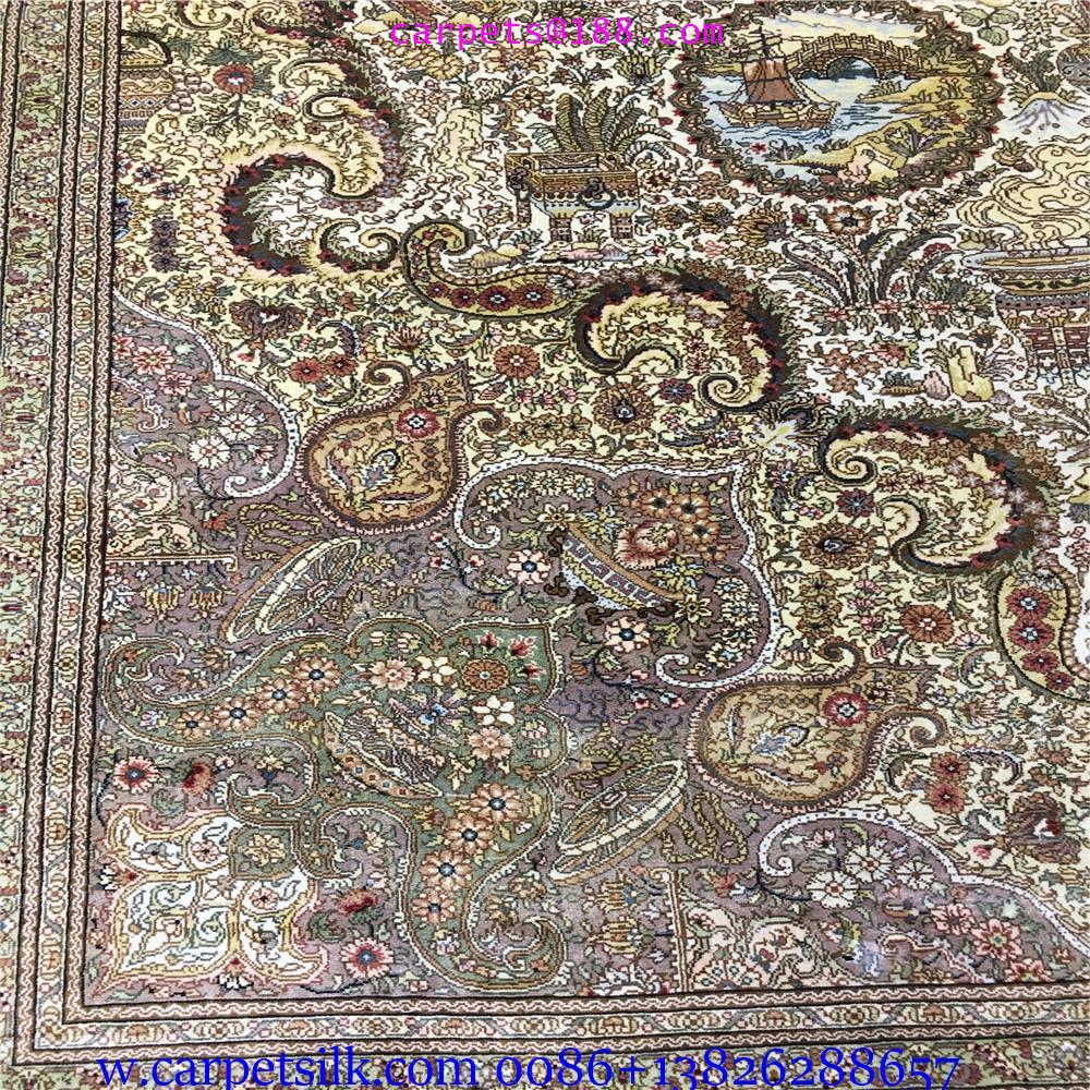 獨創人間仙境圖案,手工織造,純桑蠶絲地毯,2021年獻禮! 3