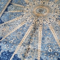 Handmade natural silk Persian pattern carpet of the same quality as Benz 2