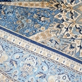 Handmade natural silk Persian pattern carpet of the same quality as Benz 3