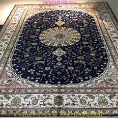 供应优质椭圆形 方形 桑蚕丝波斯地毯,艺术地毯