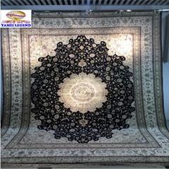 与奔驰同级的亚美传奇手工真丝地毯-亚美地毯厂生产