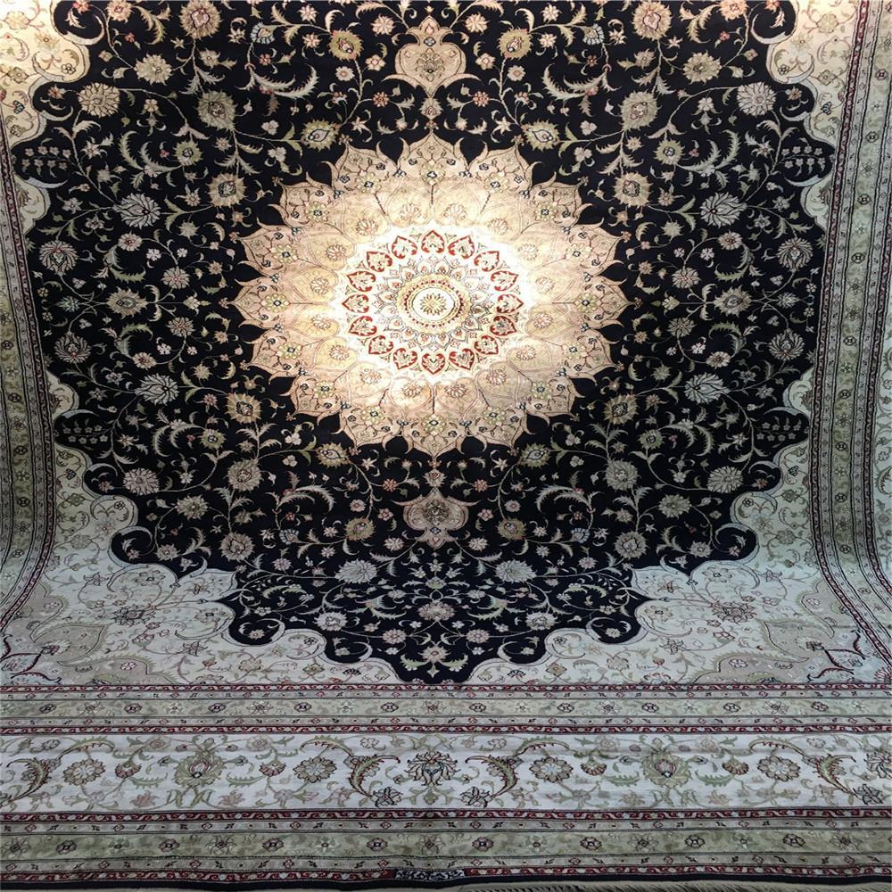 与奔驰同级的亚美传奇手工真丝地毯-亚美地毯厂生产 6
