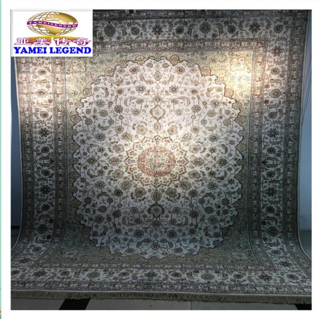 yamei legend discound Silk carpet, Handmade Persian carpet 1