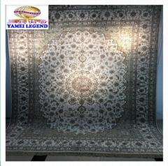 亚美传奇优惠真丝地毯,手工波斯地毯276x366cm