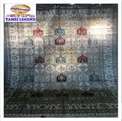 批發亞美傳奇 9x12ft 手工絲綢地毯,波斯圖案