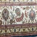 适合美国接待大厅的兰色手工波斯真丝地毯及挂毯 5