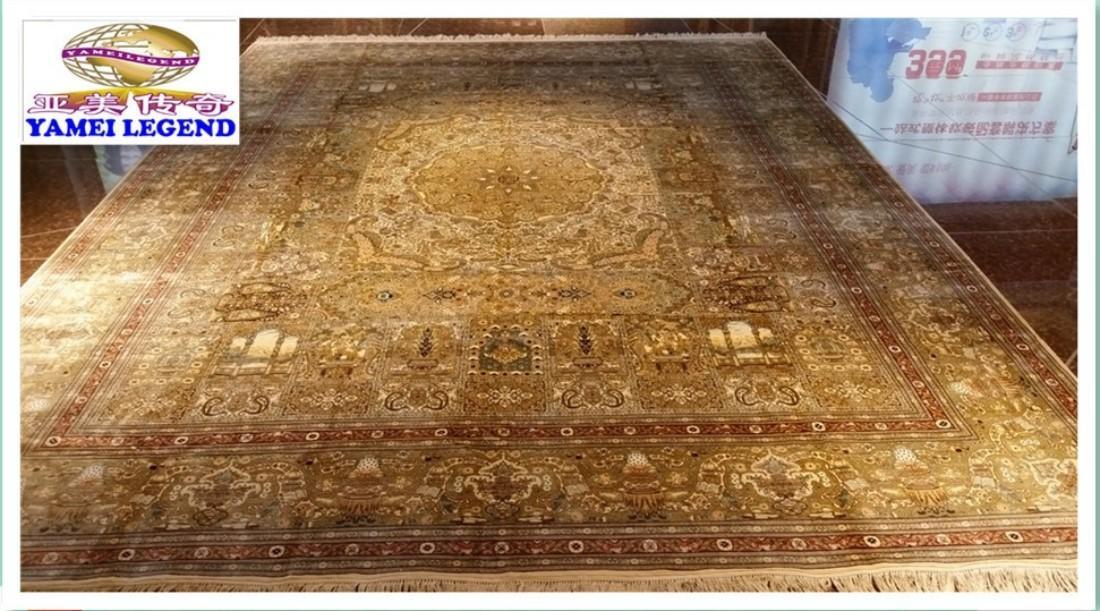 獨創人間仙境圖案,手工織造,純桑蠶絲地毯,2021年獻禮! 1