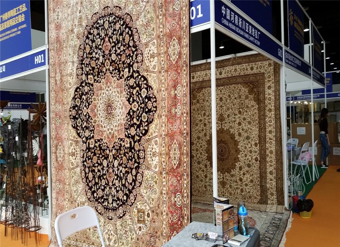亞美傳奇優質手工真絲挂毯 天然蠶絲 古董藝朮地毯 2