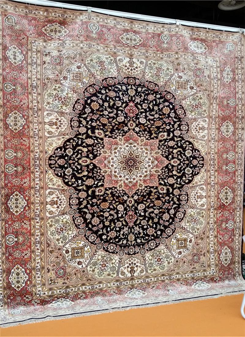 亞美傳奇優質手工真絲挂毯 天然蠶絲 古董藝朮地毯 1