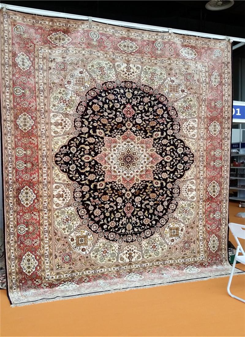 亞美傳奇優質手工真絲挂毯 天然蠶絲 古董藝朮地毯 3