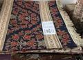 适合美国接待大厅的兰色手工波斯真丝地毯及挂毯 6