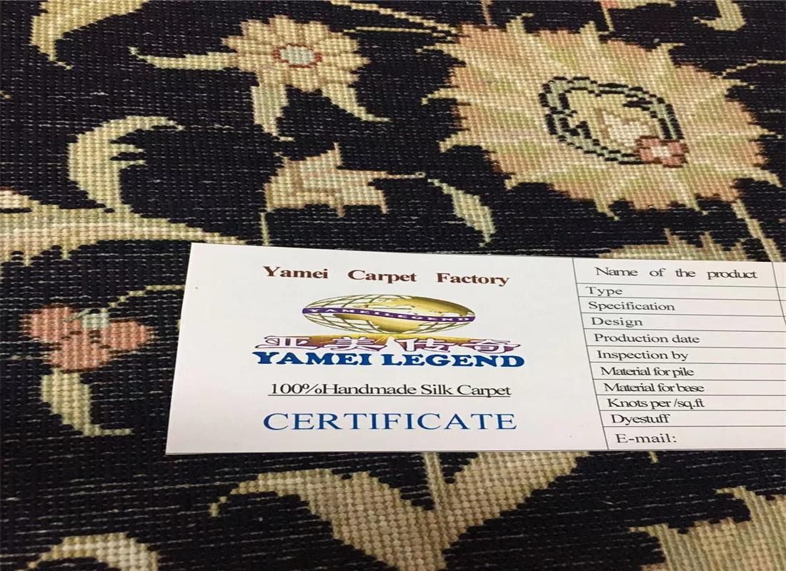 与奔驰同级的亚美传奇手工真丝地毯-亚美地毯厂生产 5