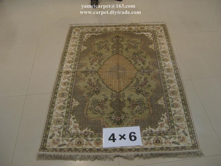 亞美傳奇手工藝朮地毯亮麗書房,真絲材質 1