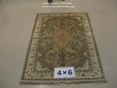 亞美傳奇手工藝朮地毯亮麗書房,真絲材質