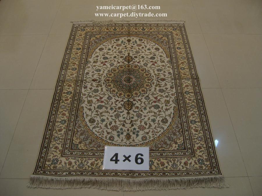 亞美傳奇手工藝朮地毯亮麗書房,真絲材質 2