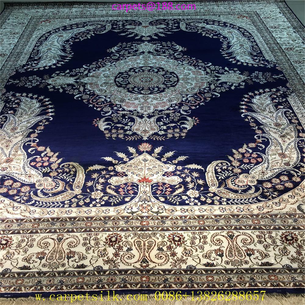 30平方米客厅的桑蚕丝地毯,亚美传奇手工制造8x10ft毯子 1