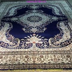 30平方米客厅的桑蚕丝地毯,亚美传奇手工制造8x10ft毯子