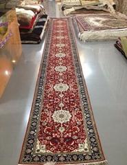 亚美传奇真丝材质手工工艺走廊地毯2.5x15ft