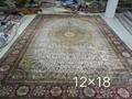 出口手工真絲地毯,12x18f