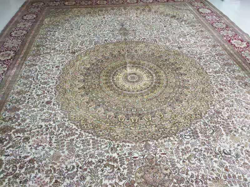 出口手工真絲地毯 12x18ft接待大廳專用毯子 2
