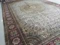 出口手工真絲地毯 12x18ft接待大廳專用毯子 5
