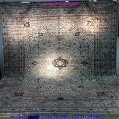 装饰国家会客厅的手工高级波斯真丝地毯10x14ft