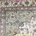 亞美傳奇波斯圖案,8x11ft 真絲手工織造的書房地毯 3