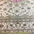 亞美傳奇波斯圖案,8x11ft 真絲手工織造的書房地毯 4