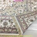 亞美傳奇波斯圖案,8x11ft 真絲手工織造的書房地毯 5