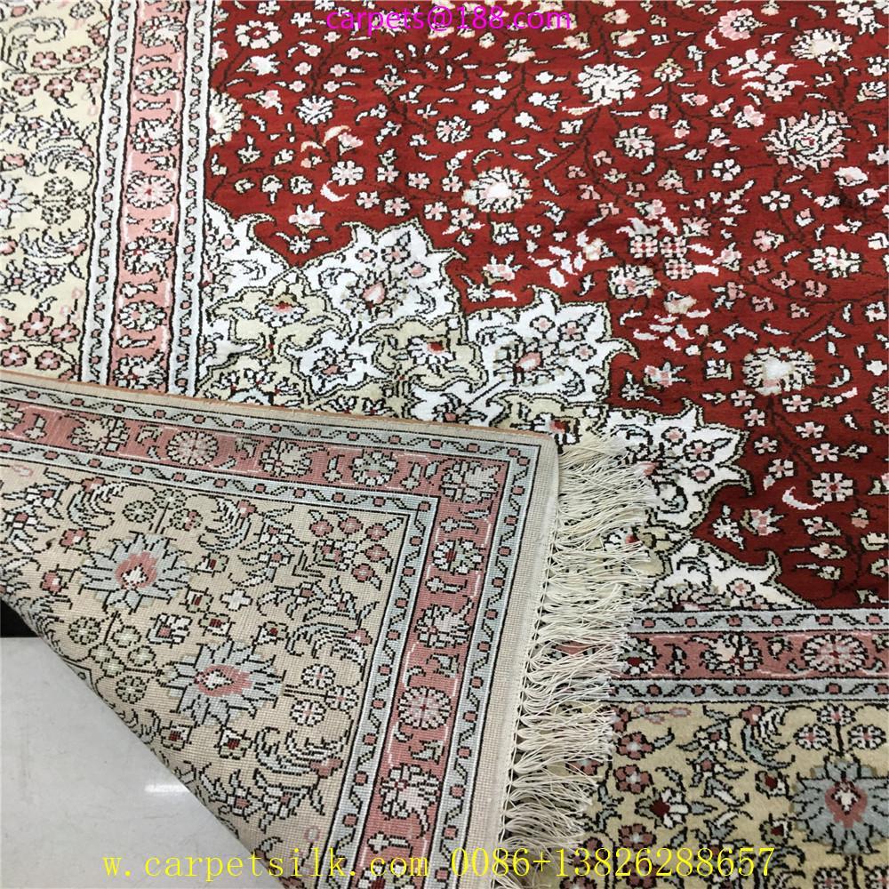 亚美批发红色6x9ft手工桑蚕丝地毯 4
