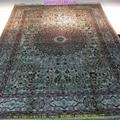 手工真絲挂毯-波斯富責淺米色5x8ft 1