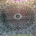 波斯富责浅米色5x8ft手工真丝挂毯 2