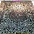 波斯富责浅米色5x8ft手工真丝挂毯 5