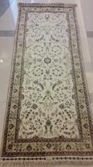 幸福的家庭,發財的走廊手工波斯地毯2.5x8