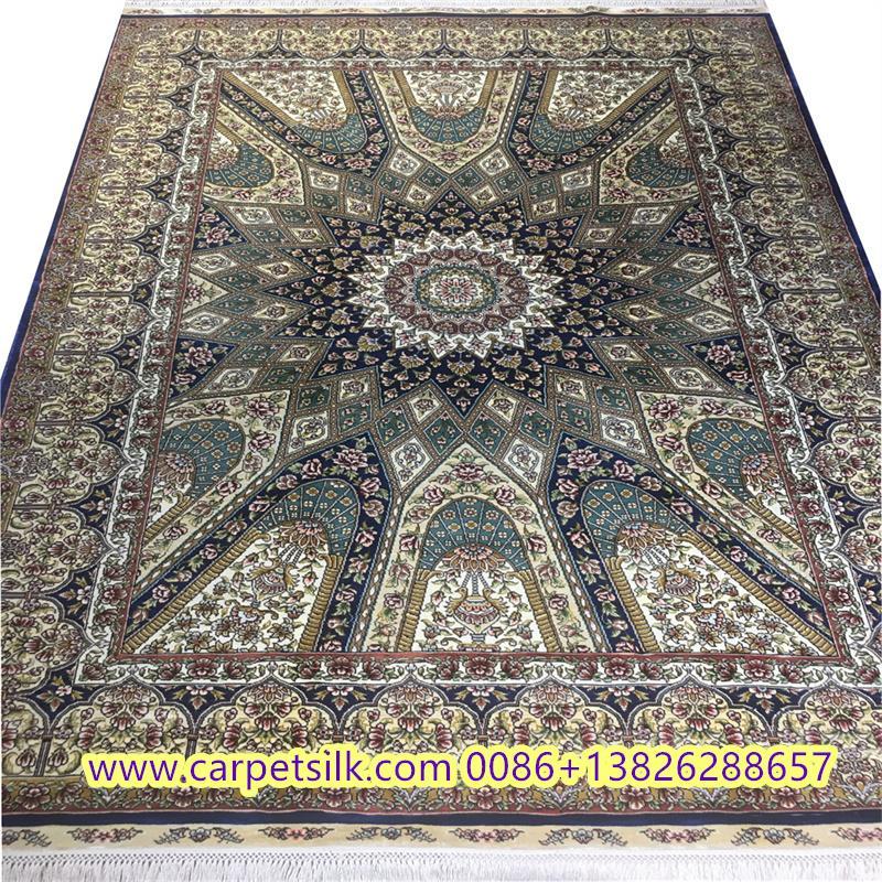 显示谈判室,小客厅艺术气芬是亚美传奇手工真丝地毯,波斯设计 1