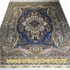 典雅书房酒店客房的优美艺术品是亚美传奇手工真丝波斯地毯