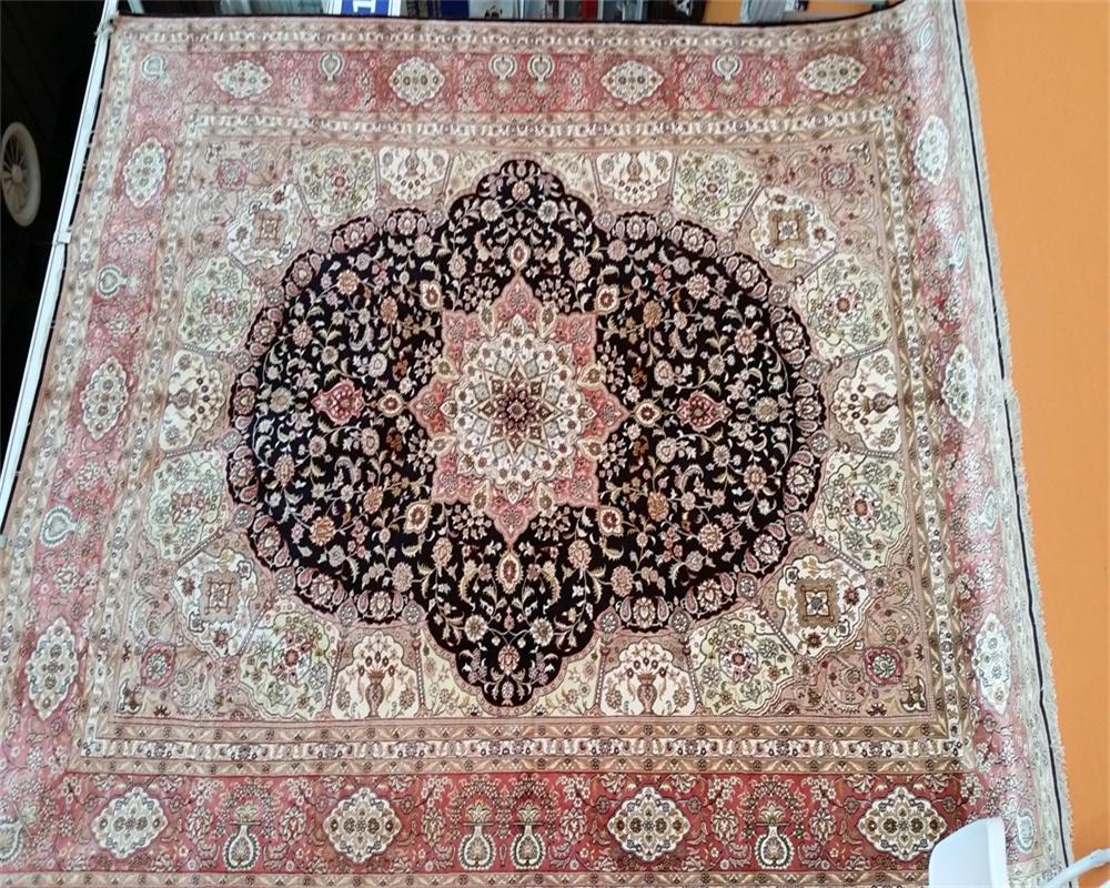 你家铺这9x12ft 手工真丝地毯,美女会把你抢走的! 2