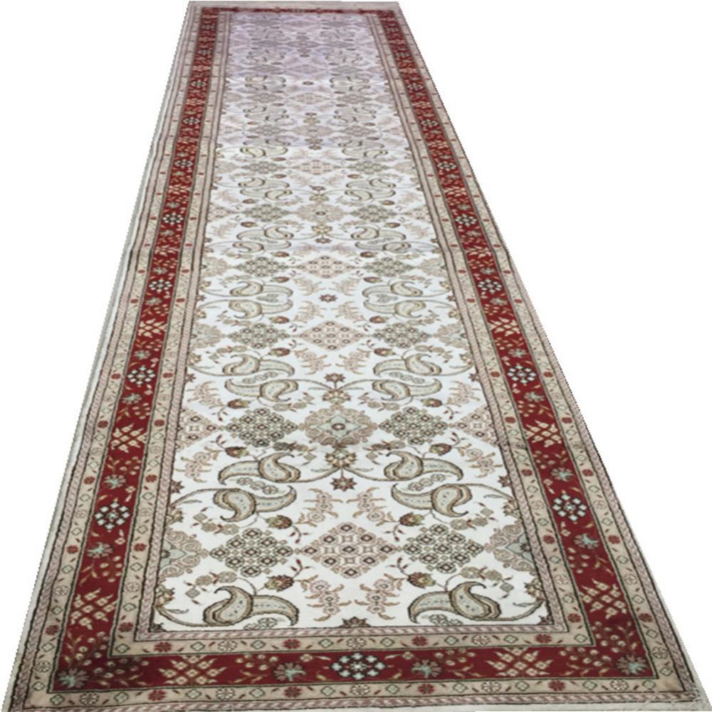 适应客厅书房走廊艺术真丝手工地毯批发零售2.5x12ft 1