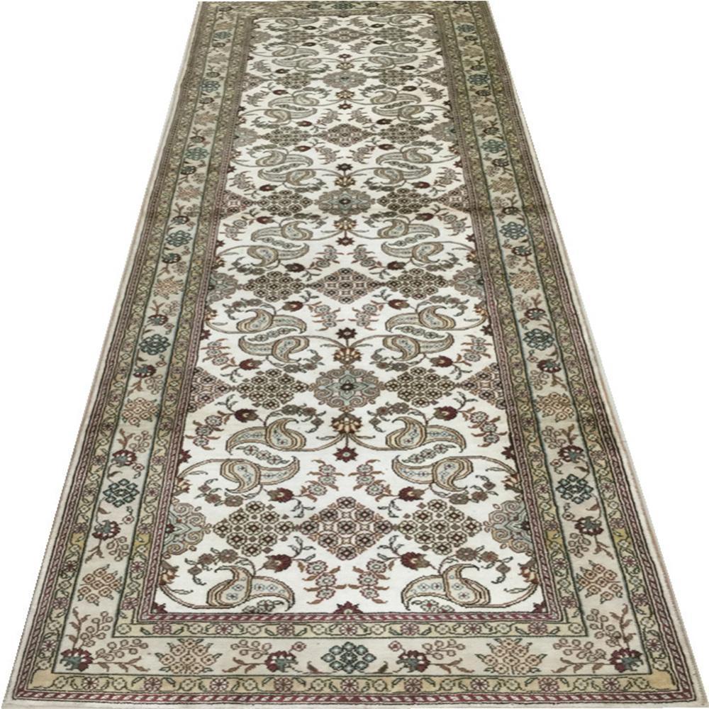 適應客廳書房走廊藝朮真絲手工地毯批發零售2.5x12ft 3