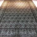 6英尺x 9英尺真丝纯手工地毯